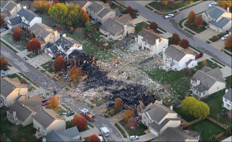 Взрыв в Индианаполисе