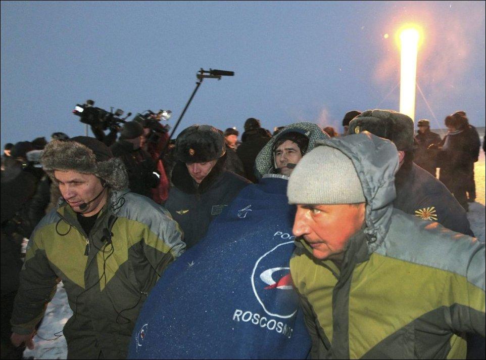 Приземление экипажа Союз ТМА-05М