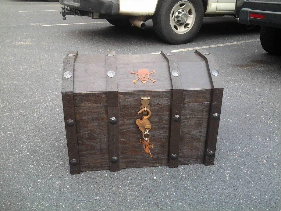 Пиратский сундук-холодильник