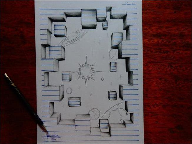 3d-рисунки в блокноте