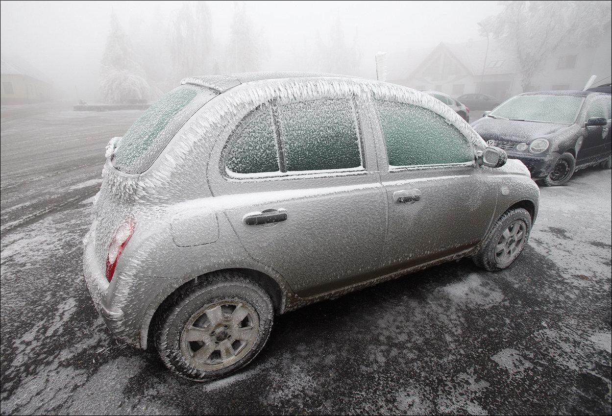 Ледяной дождь в Австрии и Германии