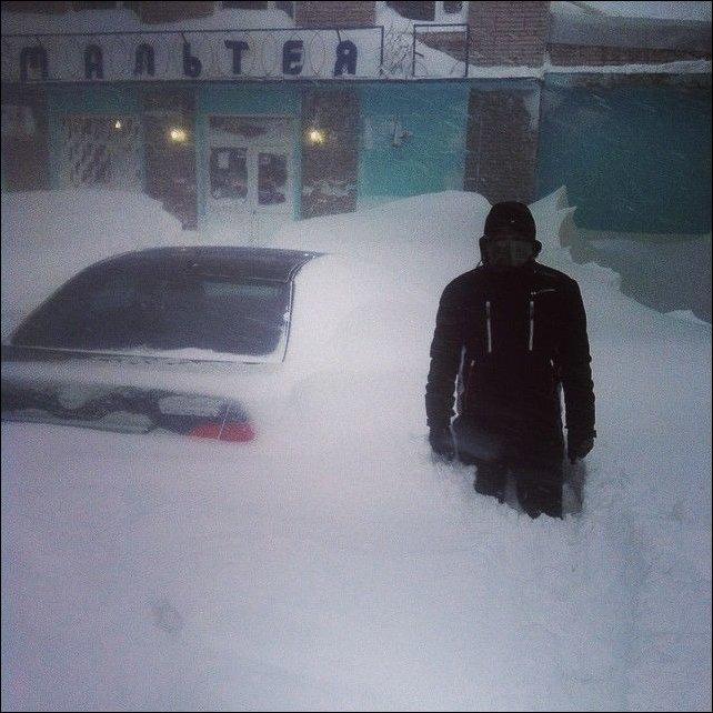 Снегопад на Дальнем Востоке