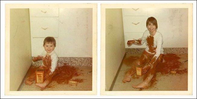 Воссоздание детских фото