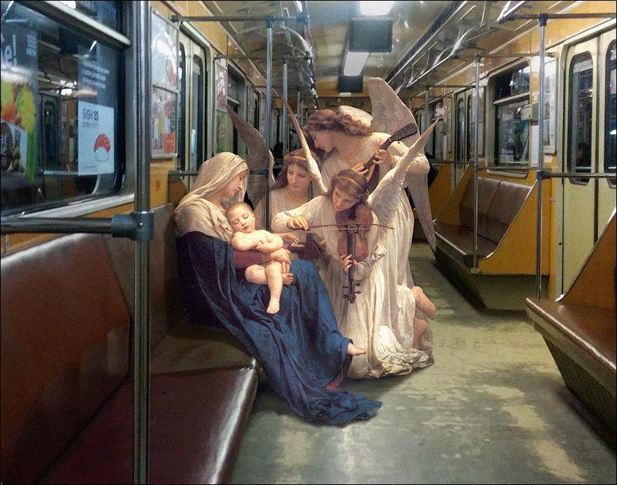 Персонажи классических картин в современном мире