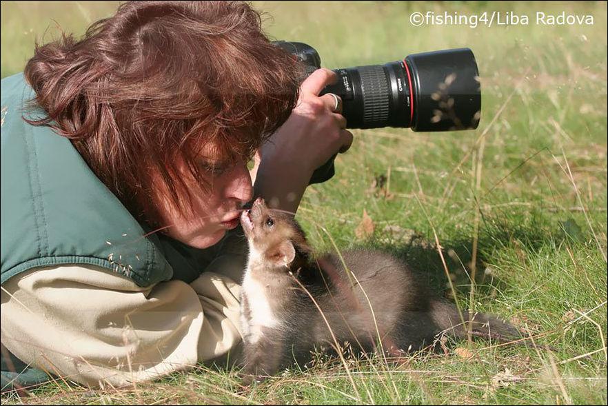 Фотограф дикой природы за работой