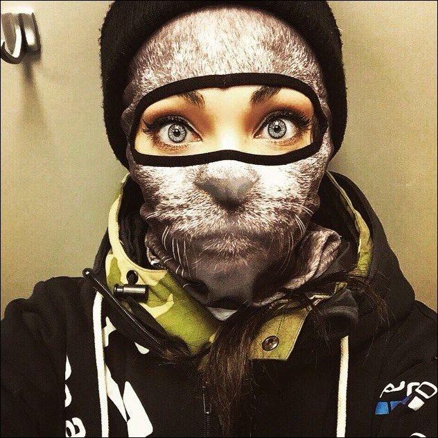 Лыжные маски с животными