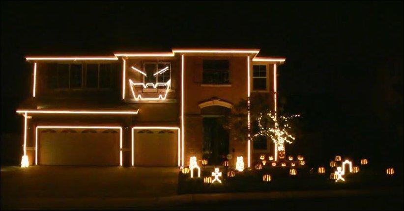 Световое представление на Хэллоуин