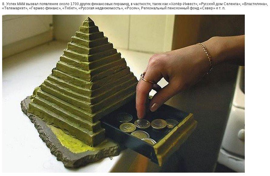 10 фактов о финансовой пирамиде МММ