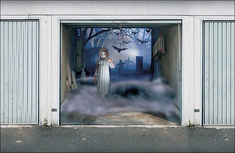 рисунки на гаражных воротах фото недавно она