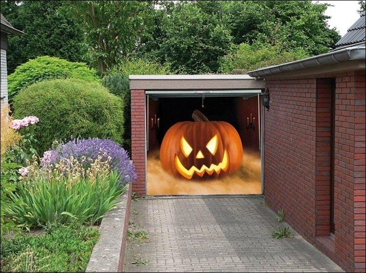 3D-рисунки на гаражной двери