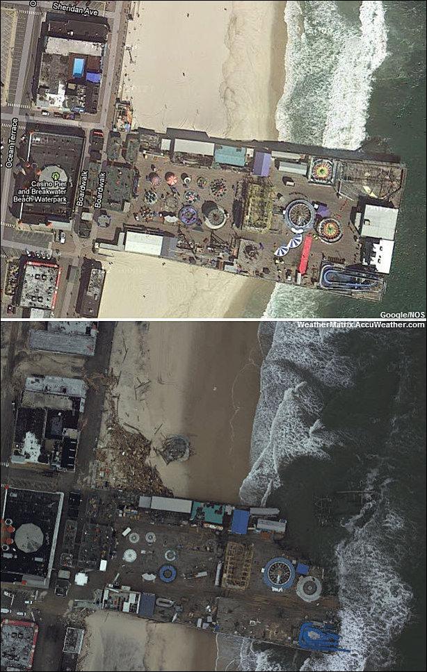 До и после урагана Сэнди