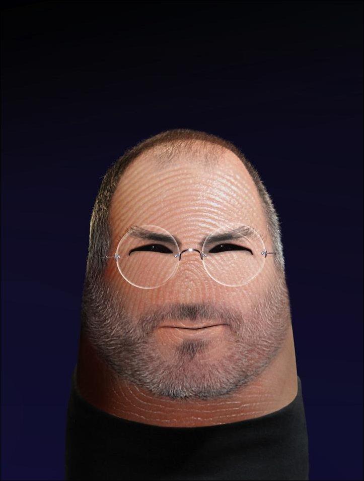 Портреты знаменитостей на кончике пальца