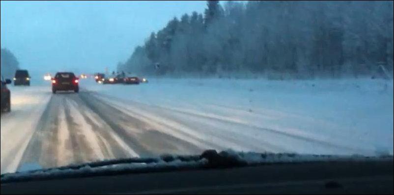 В Польше выпал снег