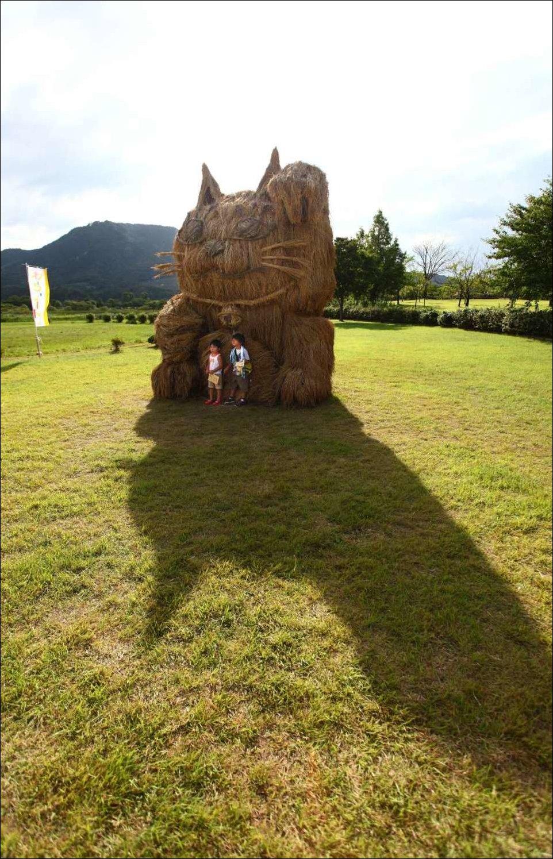 Скульптуры из соломы