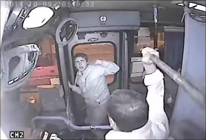 Попытка ограбления в автобусе