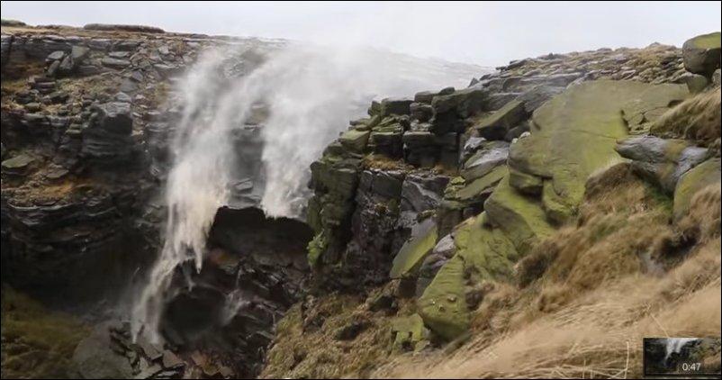 ветер против водопада