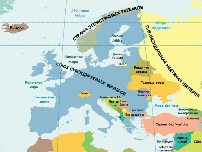 Карта европы глазами той или иной