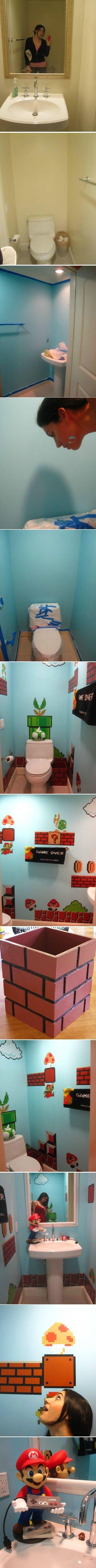 Переделка туалета в стиле Супер-Марио