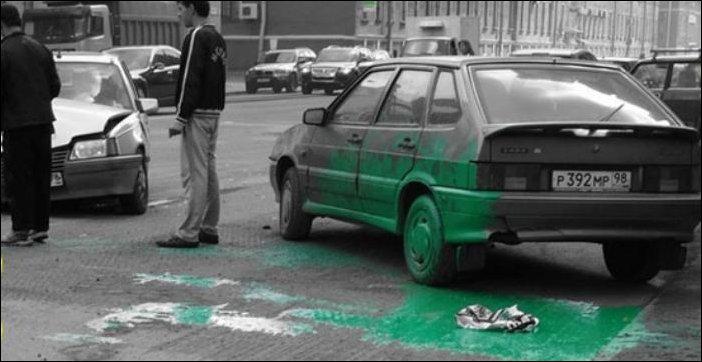 Краска в багажнике
