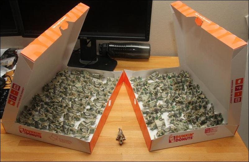 Оригами-свинки
