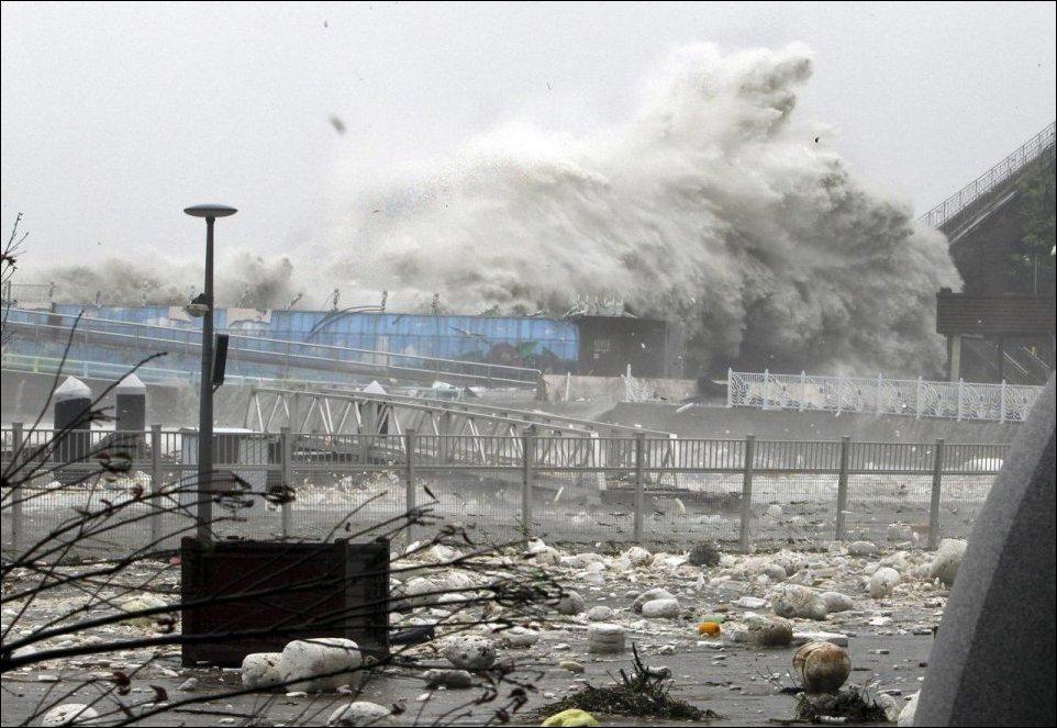 Тайфун Санба обрушился на юг Кореи