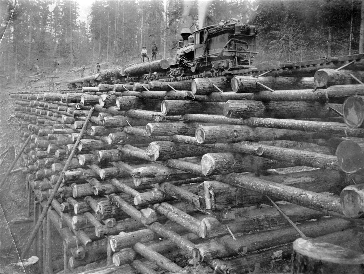Железнодорожные мосты из бревен в начале ХХ века