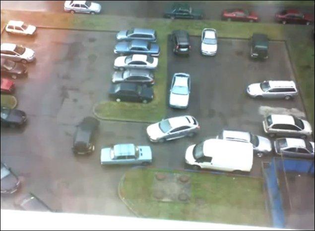 Утро на парковке