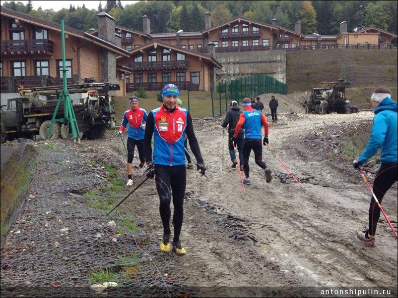 Тренировка олимпийцев в Сочи