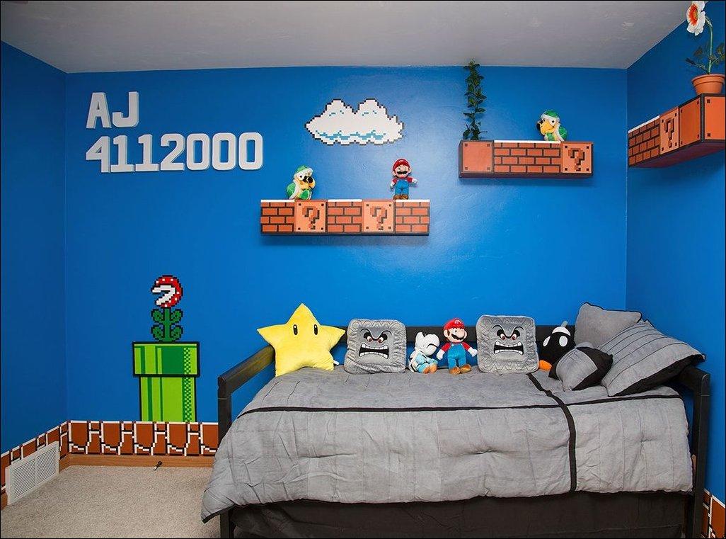 Комната в стиле Супер Марио