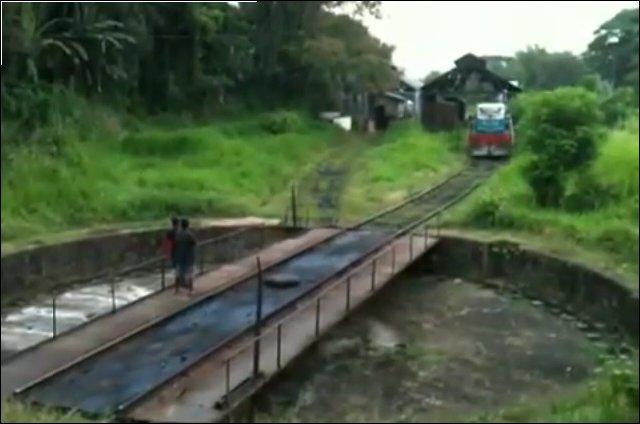 Разворот поезда вручную