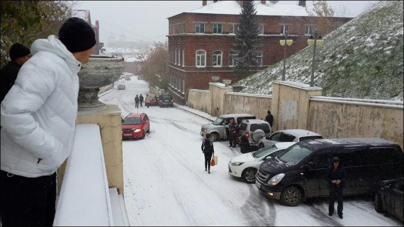 Гололед в Томске
