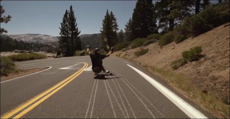 Сумасшедший скейтбордист