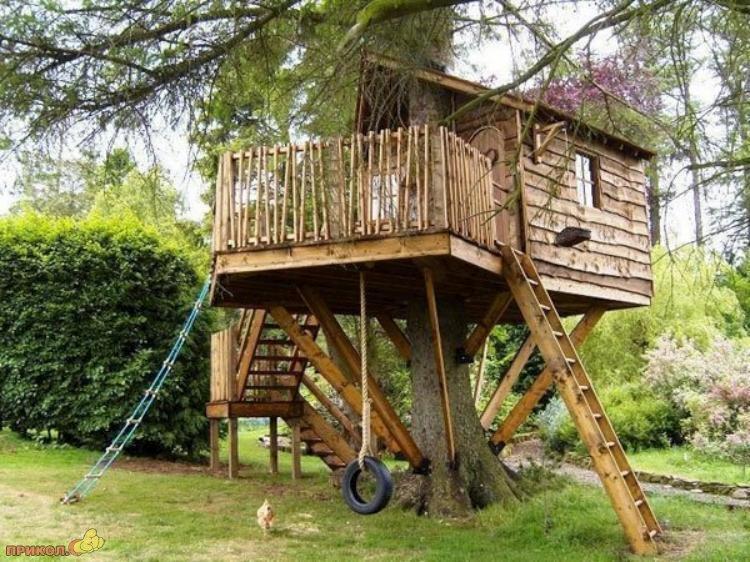 Детский домик из дерева своими руками фото