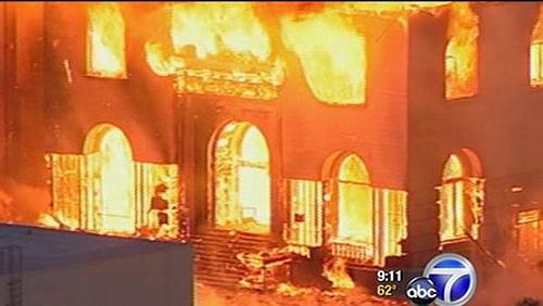пожар на Universal Studios