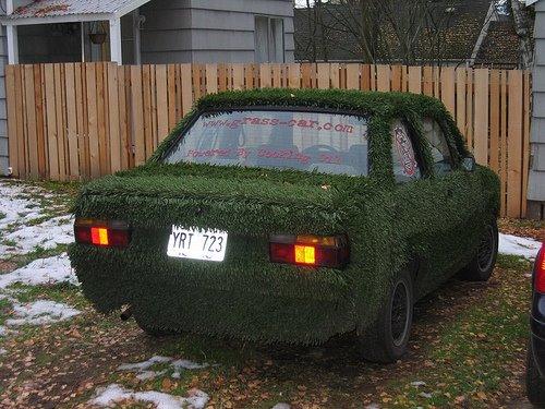 авто в траве
