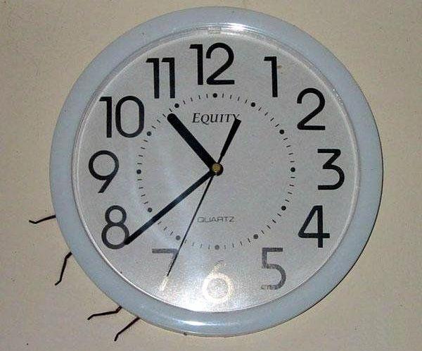 часы и паук