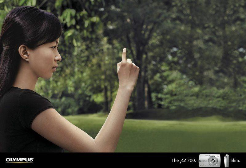 реклама фотоаппарата olympus mju 700