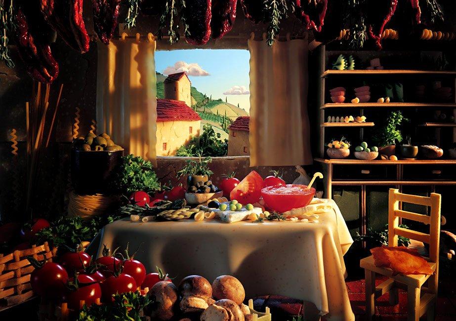 Пейзажи из еды (8 фото)