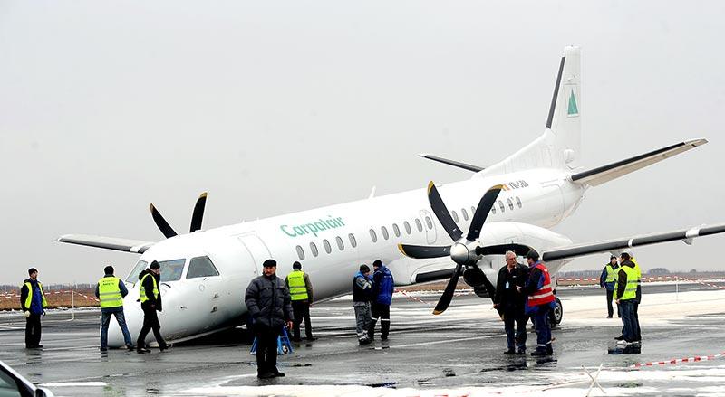 Аварийная посадка в Румынии (4 фото)