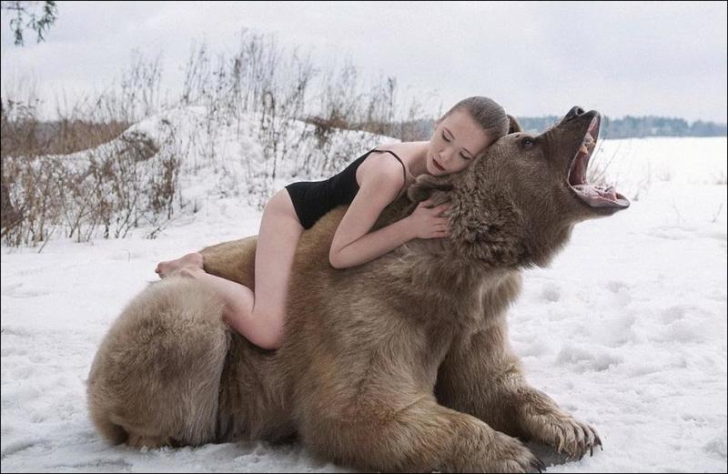 Фотосессия с медведем шокировала англоязычный интернет