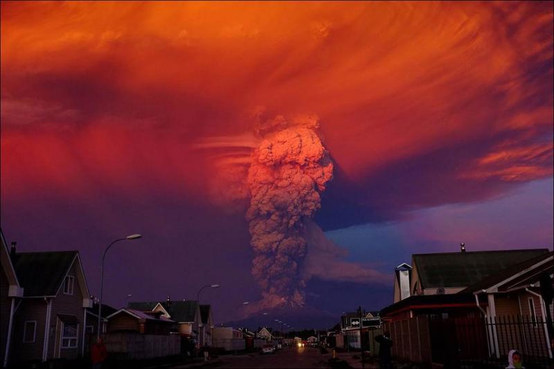 Вулкан Кальбуко проснулся