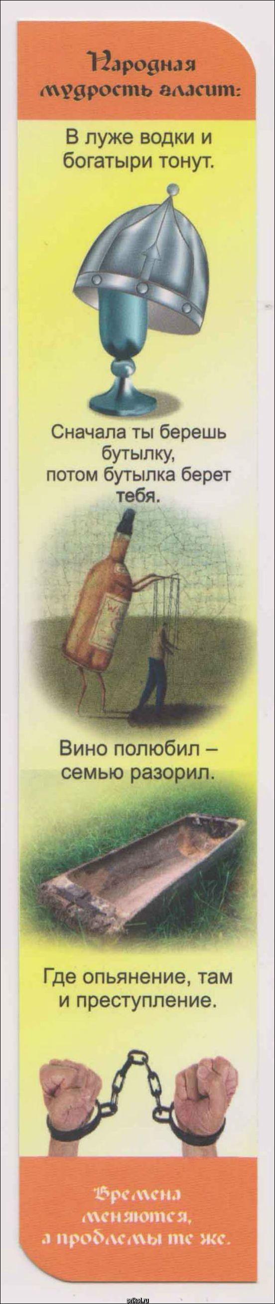 Ярославские школьники получили закладки с антиалкогольной пропагандой