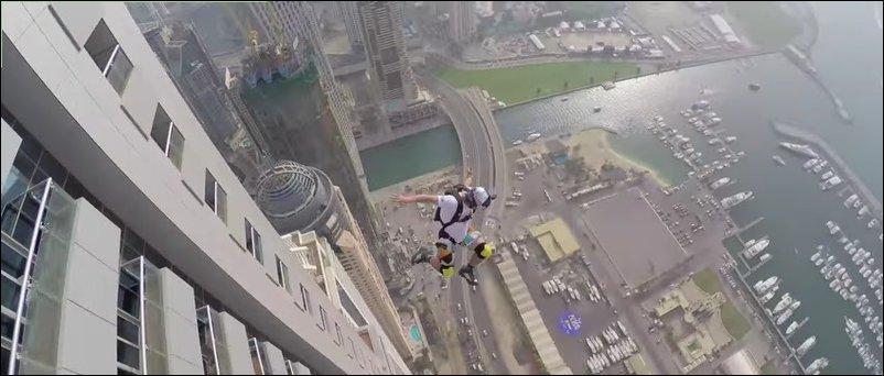 Прыжки с небоскреба в Дубаи