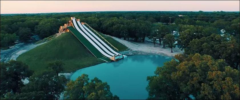 Водные горки super slide в Техасе