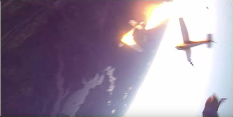 Столкновение самолетов с парашютистами