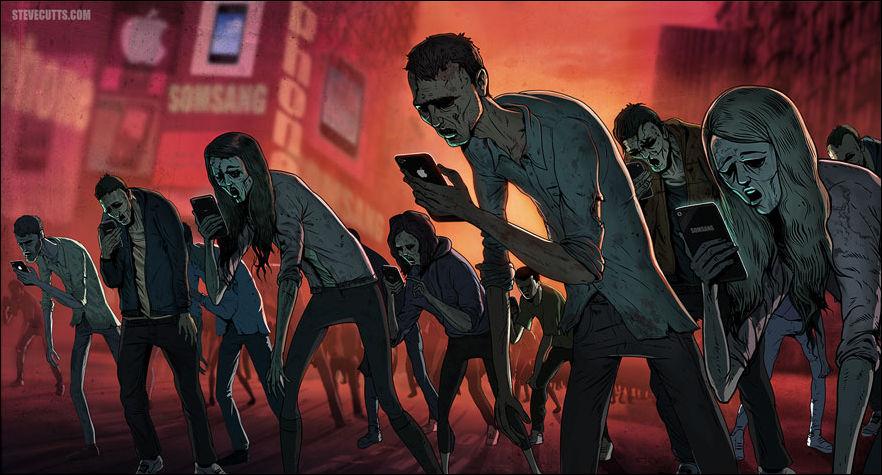 Современный мир глазами художника Стива Каттса (15 рисунков)