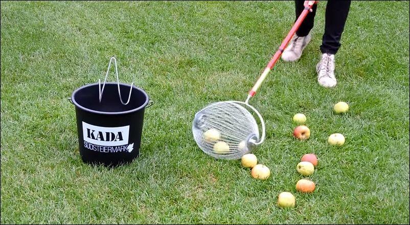 Комбайн для сбора опавших яблок