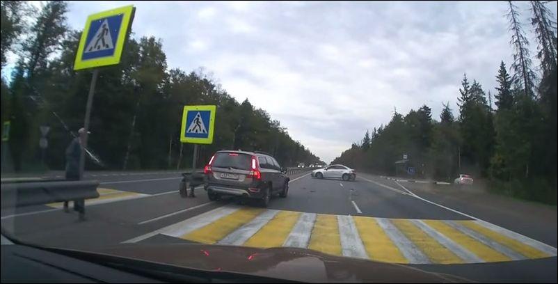 Авария на пешеходном переходе на трассе М7