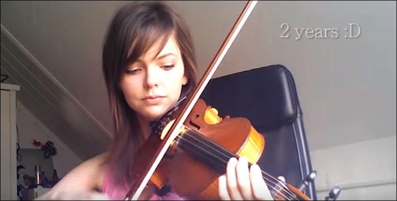 Самоучка записала на видео свой прогресс в изучении игры на скрипке за 2 года