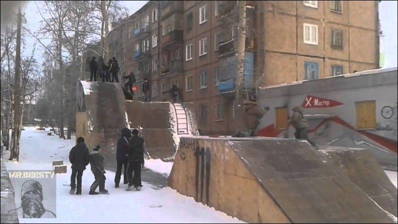 Новое зимнее развлечение российских детишек